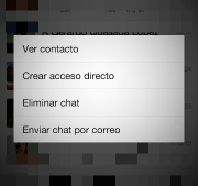 Eliminar chat whatsapp