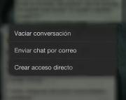 Vaciar conversación grupo Whatsapp