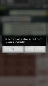 Su servicio de WhatsApp ha caducado