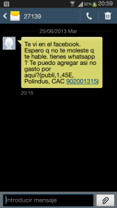 Estafa mediante sms