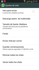 Guardar conversaciones whatsapp