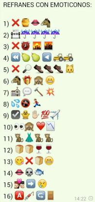 refranes emoticonos